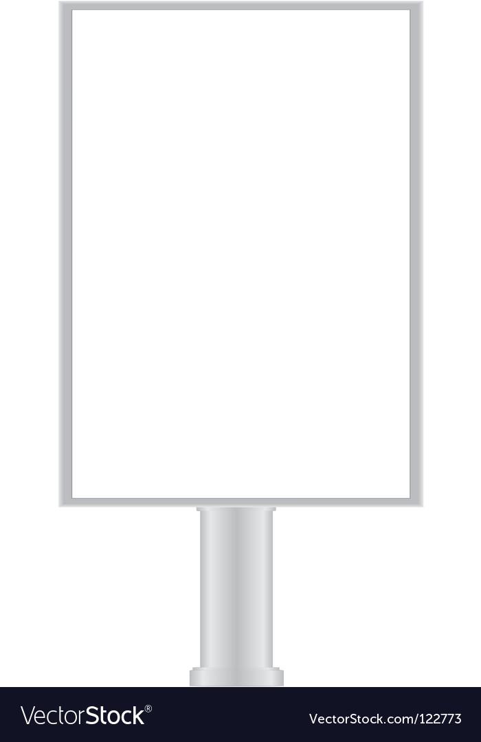 Small billboard vector | Price: 1 Credit (USD $1)
