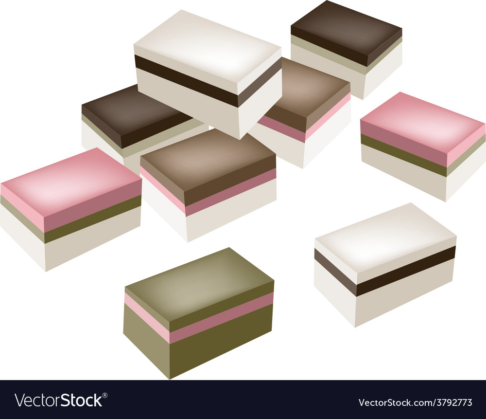 Uiro mochi or traditional japanese steamed layer vector | Price: 1 Credit (USD $1)