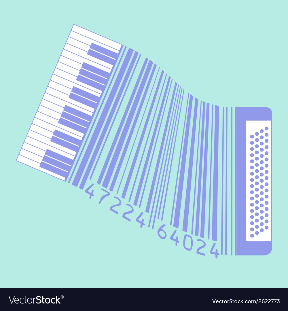 Upc accordion vector | Price: 1 Credit (USD $1)