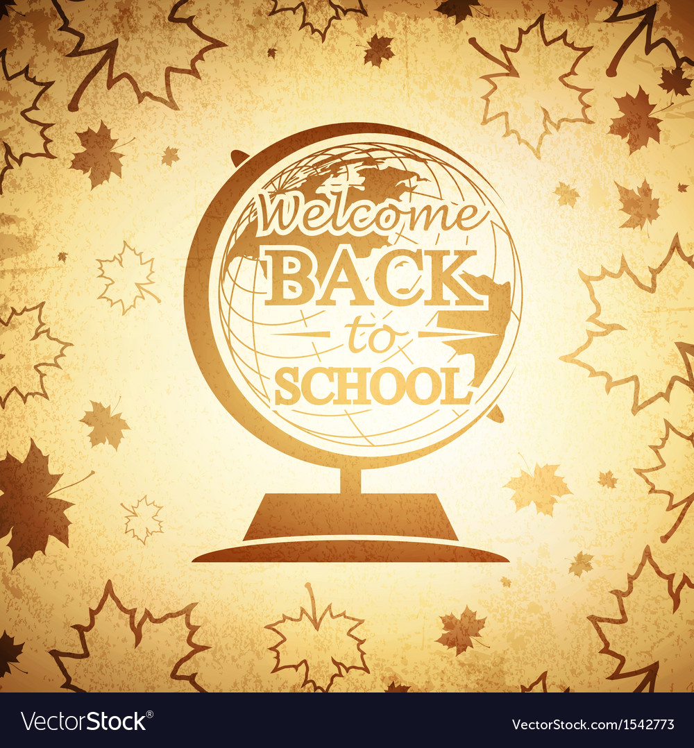Vintage globe back to school vector | Price: 1 Credit (USD $1)