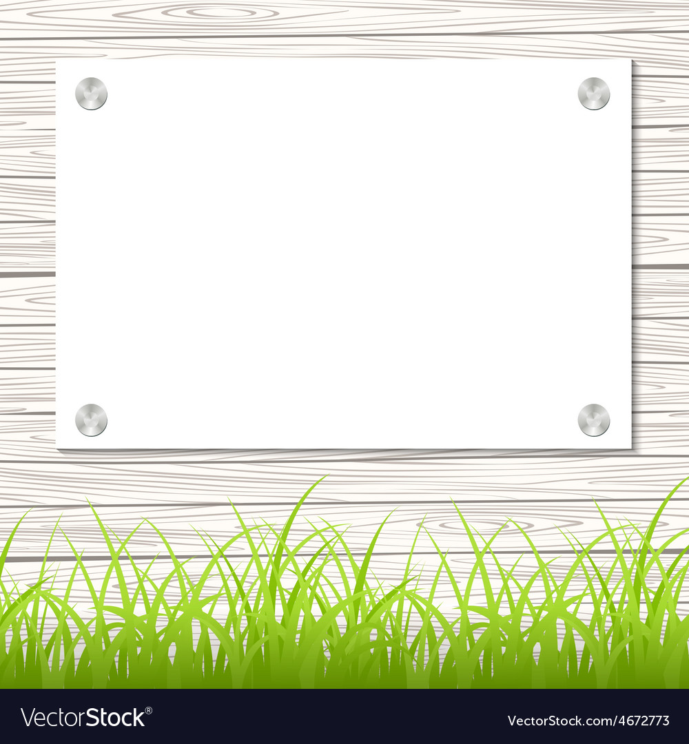 Wall with a piece of paper vector | Price: 1 Credit (USD $1)