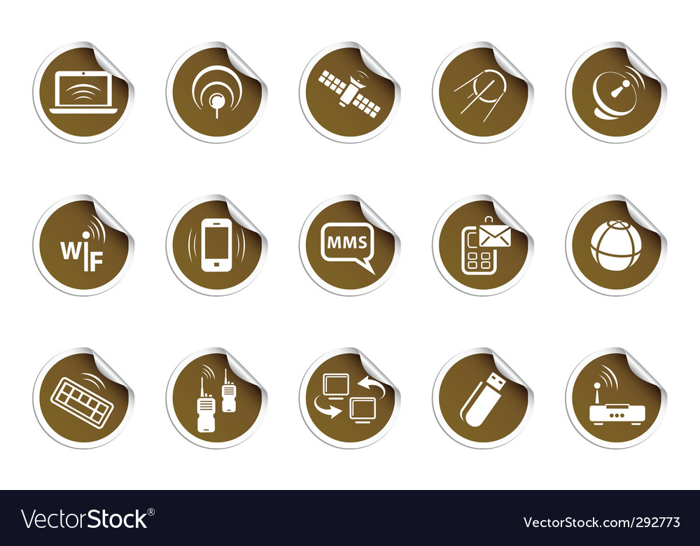 Wireless icons  sticky series vector | Price: 1 Credit (USD $1)