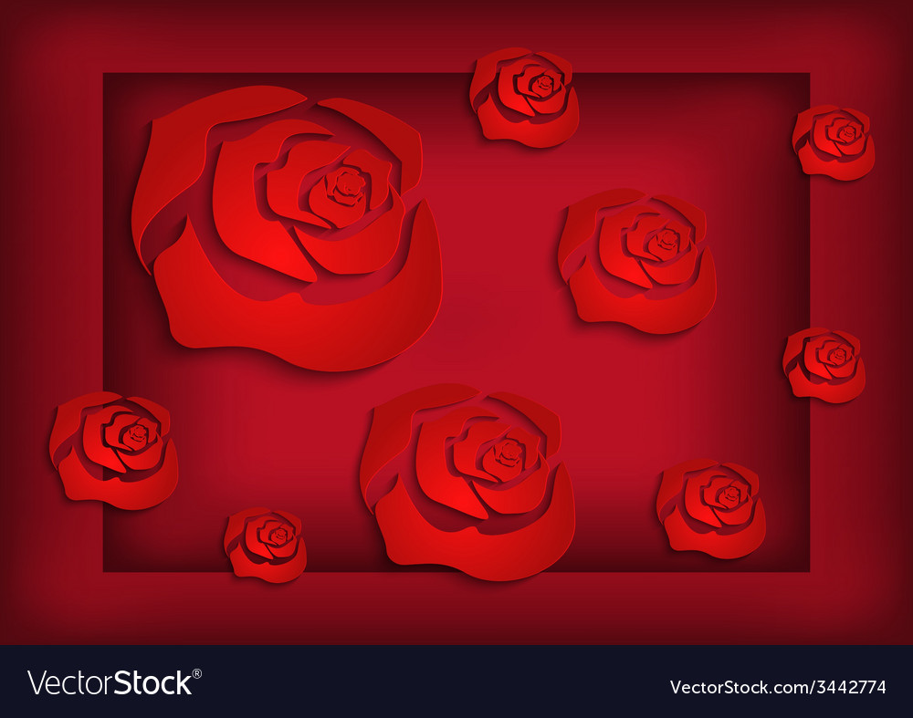 Abstract roses background vector | Price: 1 Credit (USD $1)