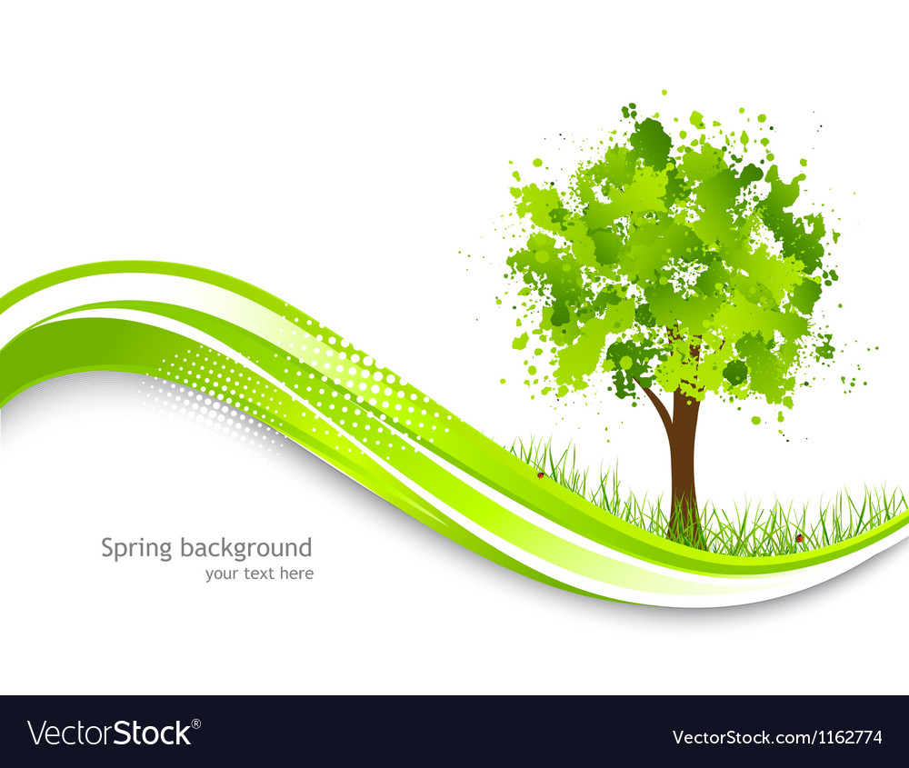 Background with abstract green tree vector | Price: 1 Credit (USD $1)