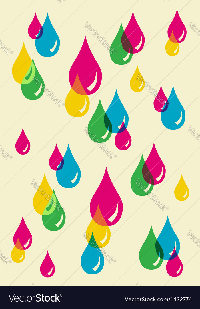 Colorful drops transparency pattern vector | Price: 1 Credit (USD $1)