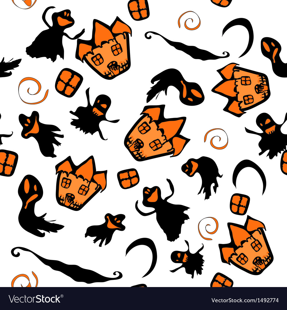 Haunted halloween witch house texture vector | Price: 1 Credit (USD $1)