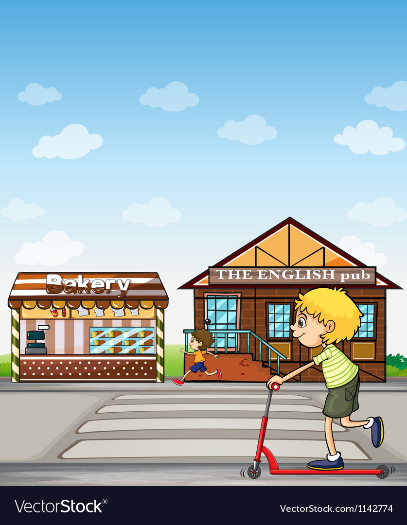Kids bakery and pub vector | Price: 1 Credit (USD $1)