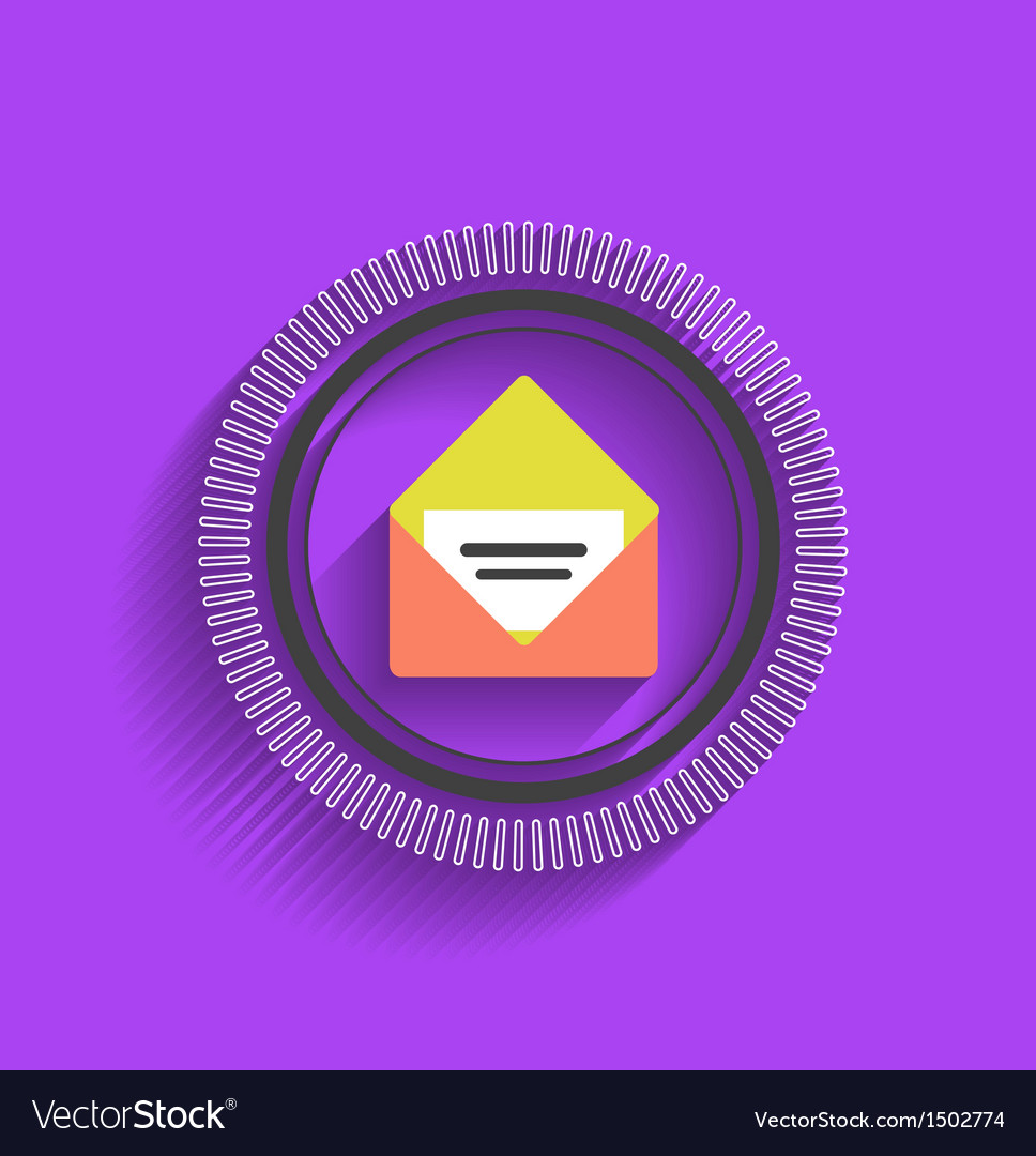 Mail stamp flat modern design vector | Price: 1 Credit (USD $1)