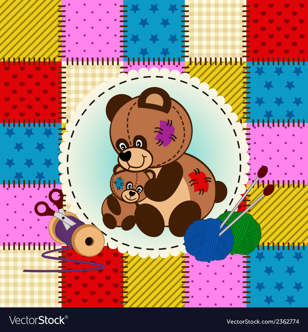 Mother and baby bear vector | Price: 1 Credit (USD $1)
