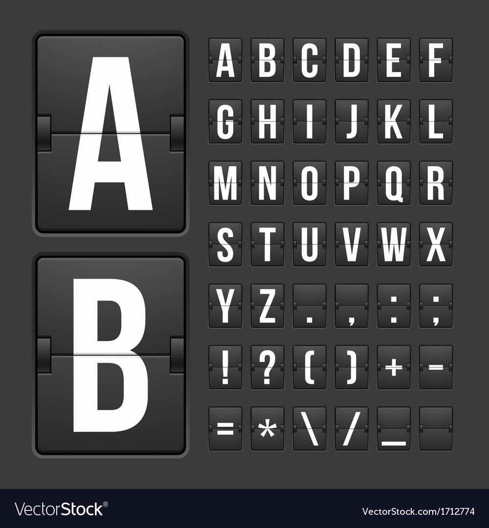 Scoreboard letters and symbols alphabet panel vector   Price: 1 Credit (USD $1)