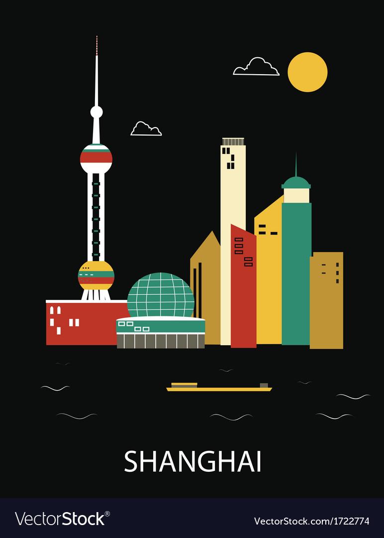 Shanghai china vector | Price: 1 Credit (USD $1)