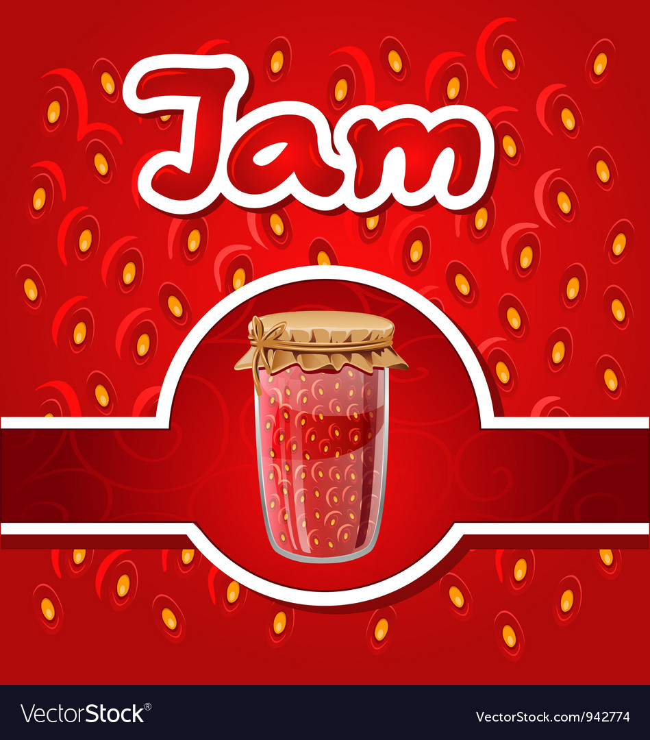 Strawberry jam vector | Price: 3 Credit (USD $3)