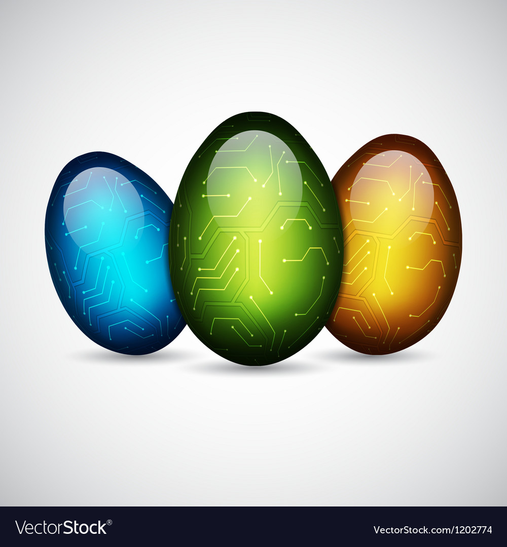 Technology easter eggs vector | Price: 1 Credit (USD $1)