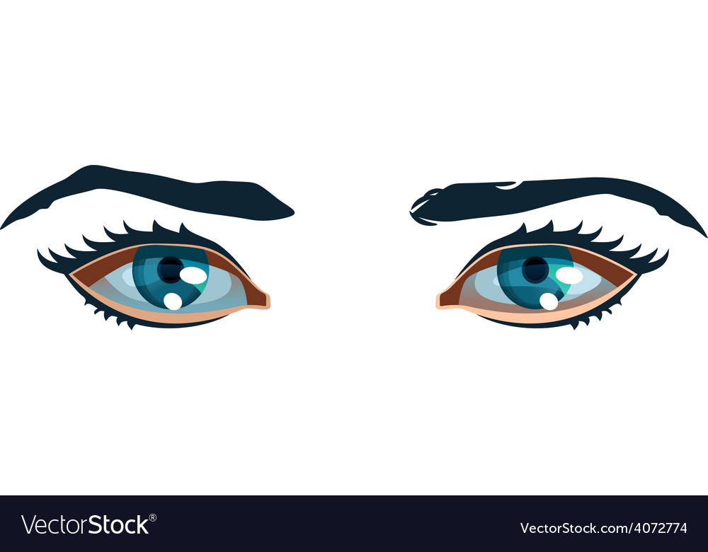 Women eyes vector | Price: 1 Credit (USD $1)