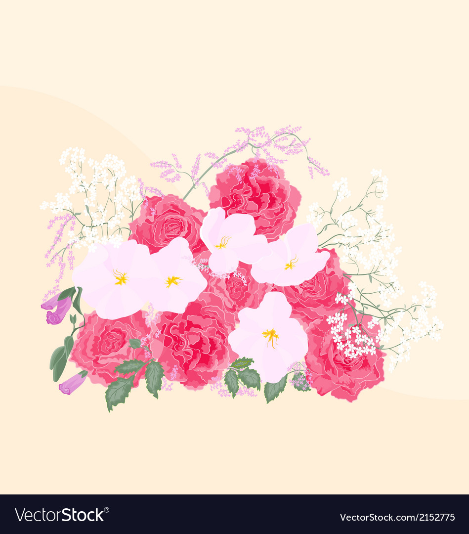 Background-bouquet-of-roses vector | Price: 1 Credit (USD $1)