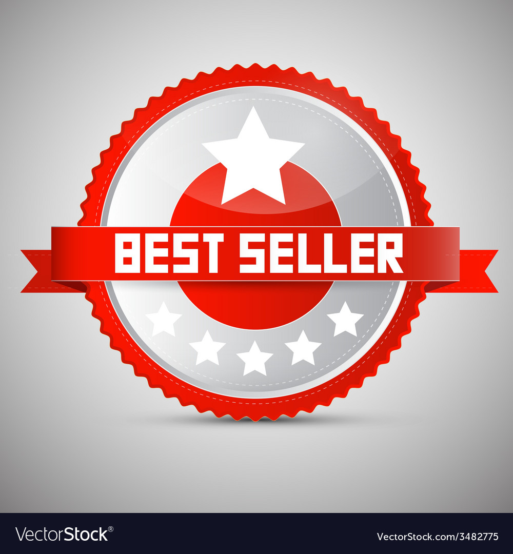 Best seller red and silver award - label - tag vector | Price: 1 Credit (USD $1)