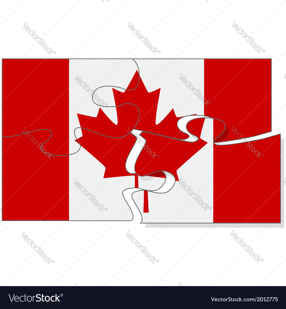 Canadian puzzle vector | Price: 1 Credit (USD $1)
