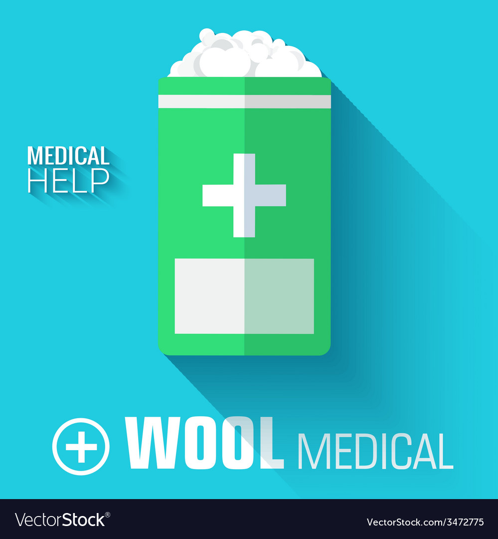 Flat medical wool background concept vector | Price: 1 Credit (USD $1)