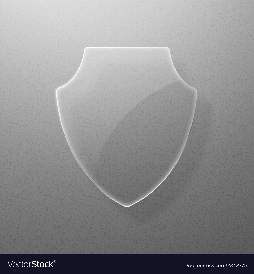 Glass shield on a gray background eps10 vector | Price: 1 Credit (USD $1)