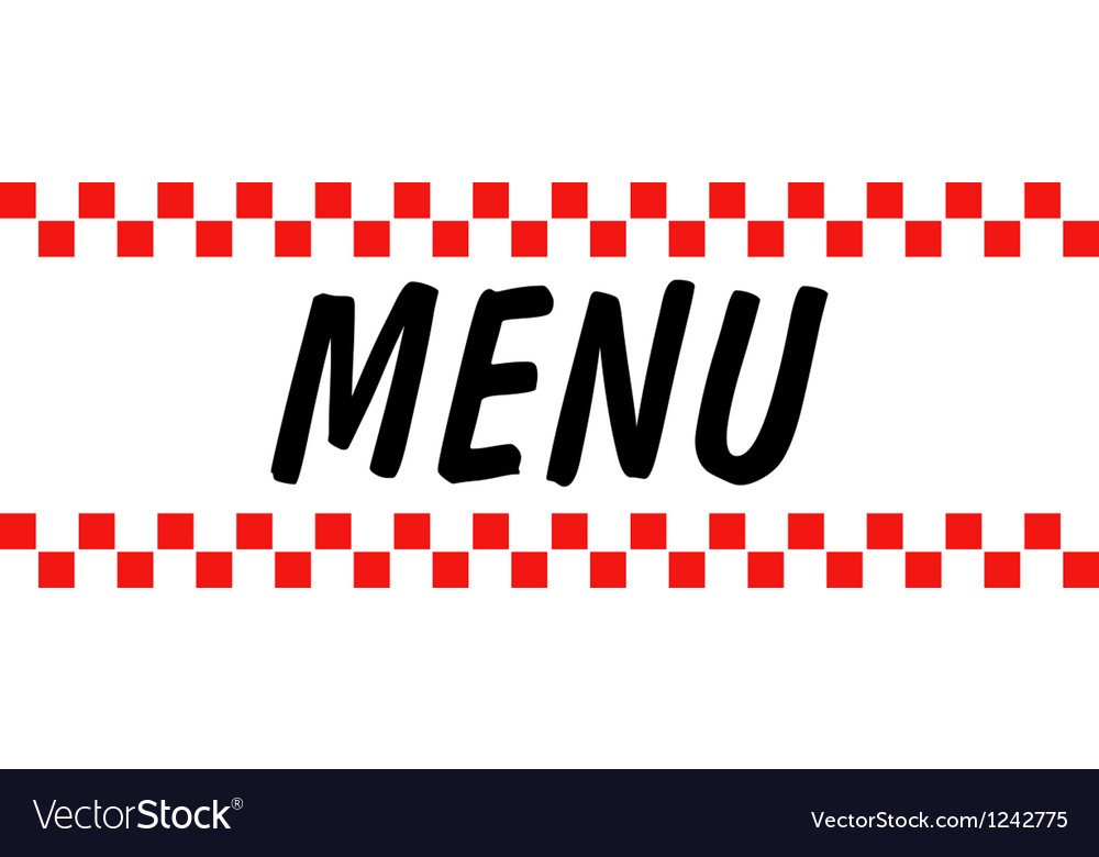 Hotel diner menu vector | Price: 1 Credit (USD $1)