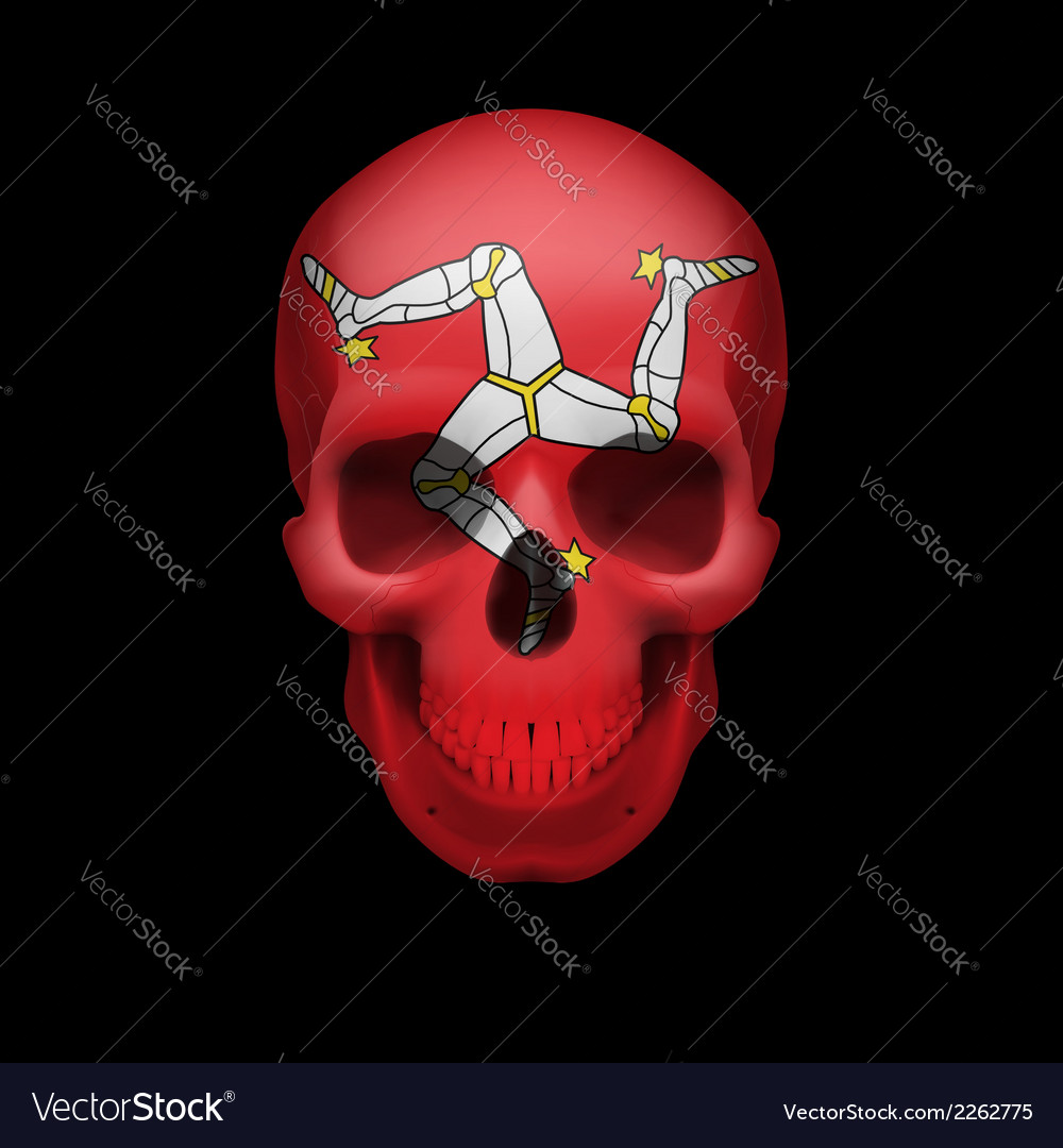 Isle of man flag skull vector | Price: 1 Credit (USD $1)