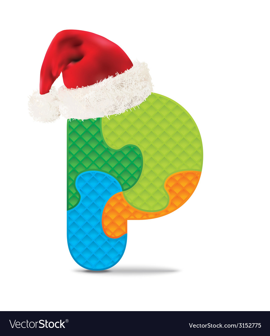 Letter p written with alphabet puzzle vector   Price: 1 Credit (USD $1)