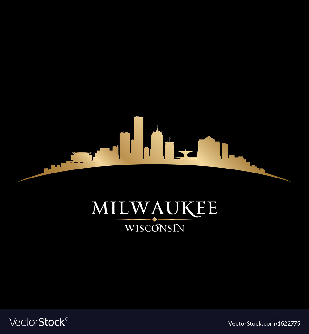 Milwaukee wisconsin city skyline silhouette vector | Price: 1 Credit (USD $1)