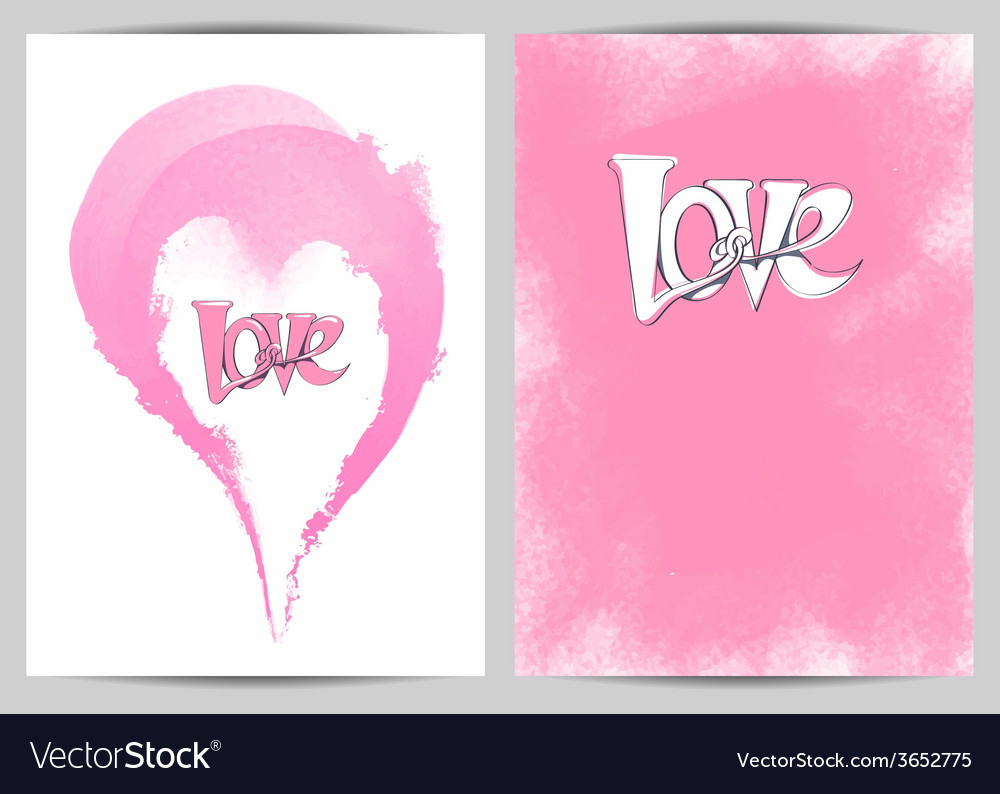 Page with a heart and the word love for posters vector | Price: 1 Credit (USD $1)