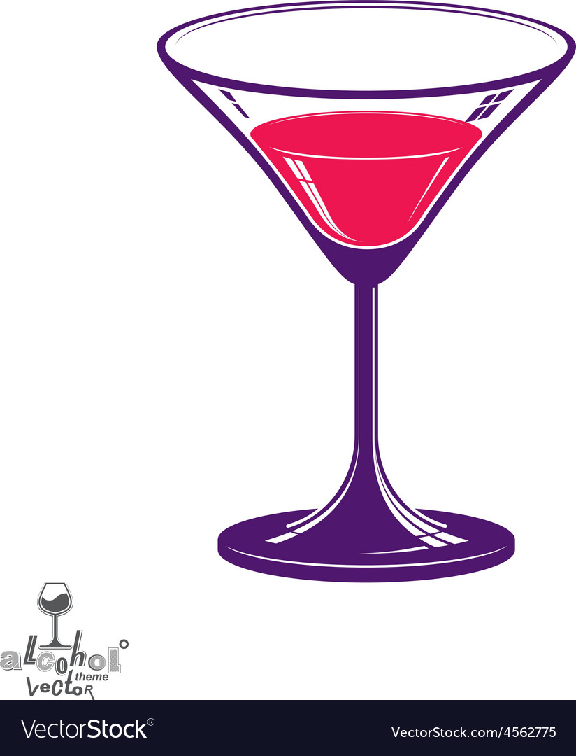 Realistic 3d martini glass alcohol theme vector | Price: 1 Credit (USD $1)