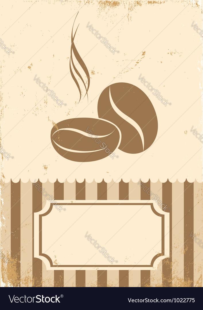 Retro paper coffee bean vector | Price: 1 Credit (USD $1)