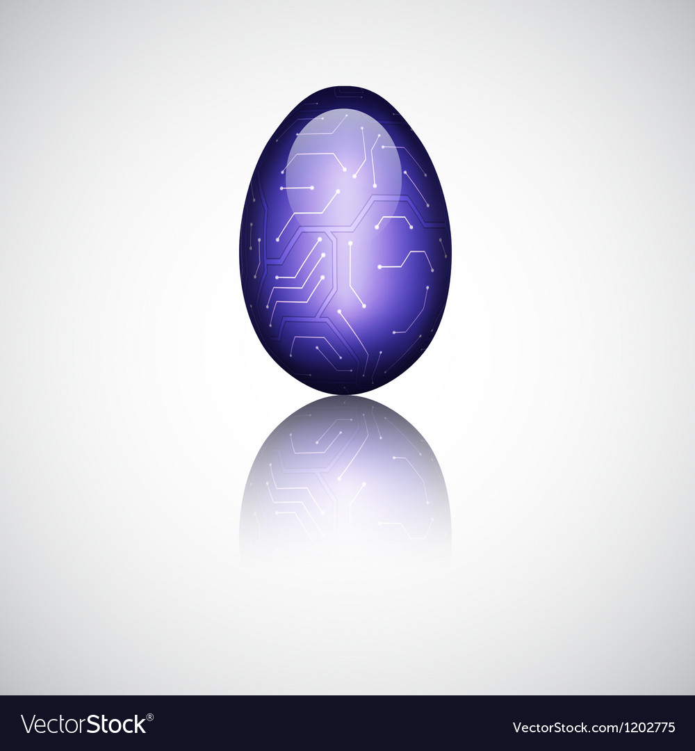Technology easter egg vector | Price: 1 Credit (USD $1)