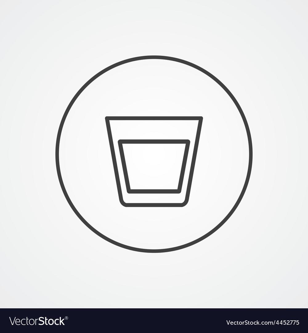 Vodka outline symbol dark on white background logo vector   Price: 1 Credit (USD $1)