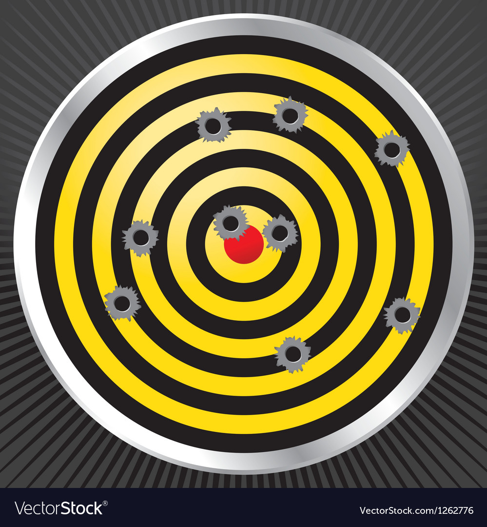 Gun range target with bullet holes vector | Price: 1 Credit (USD $1)