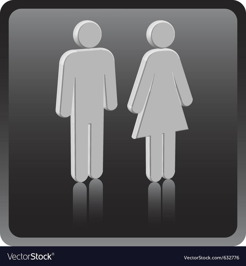 Man woman icon over gray background vector | Price: 1 Credit (USD $1)