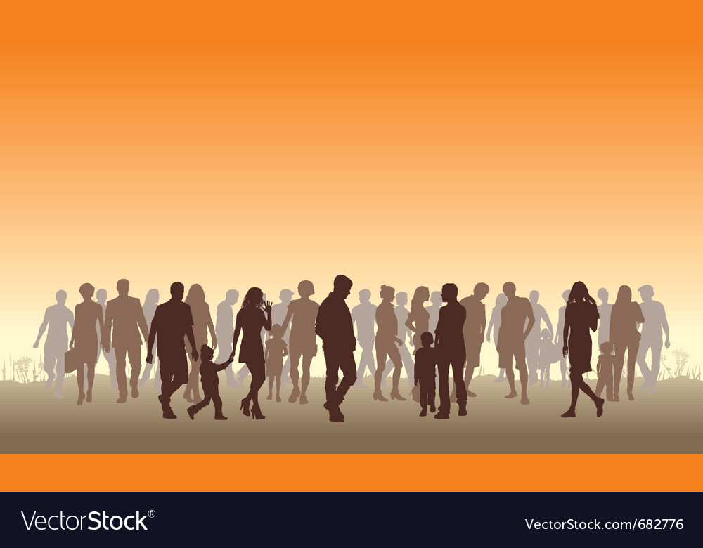 People in the horizon vector | Price: 1 Credit (USD $1)