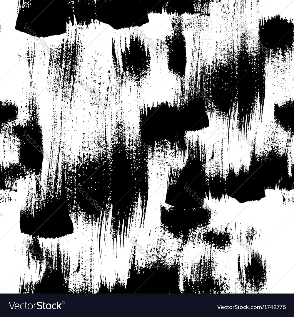 Seamless handmade abstract brush strokes vector | Price: 1 Credit (USD $1)