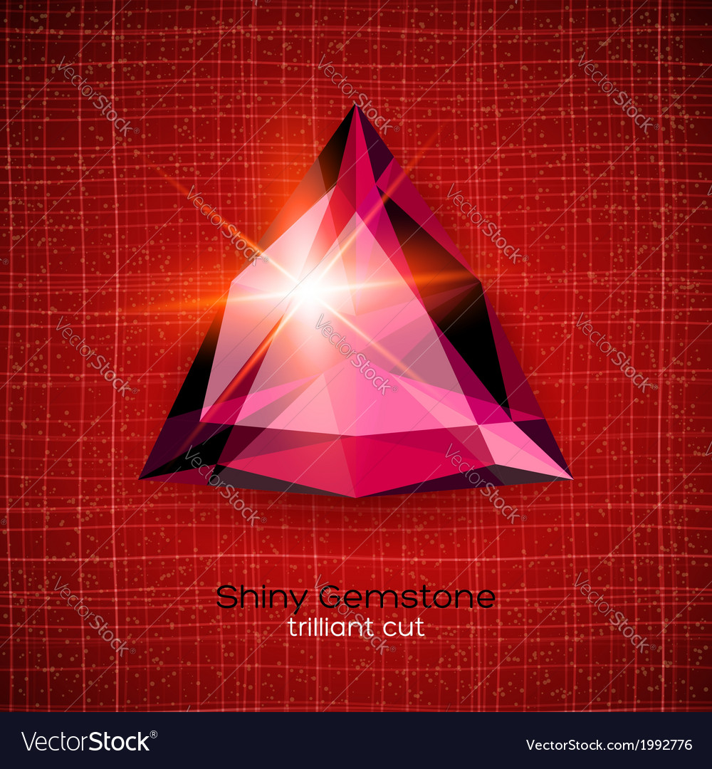 Shiny gemstone on textured background vector | Price: 1 Credit (USD $1)