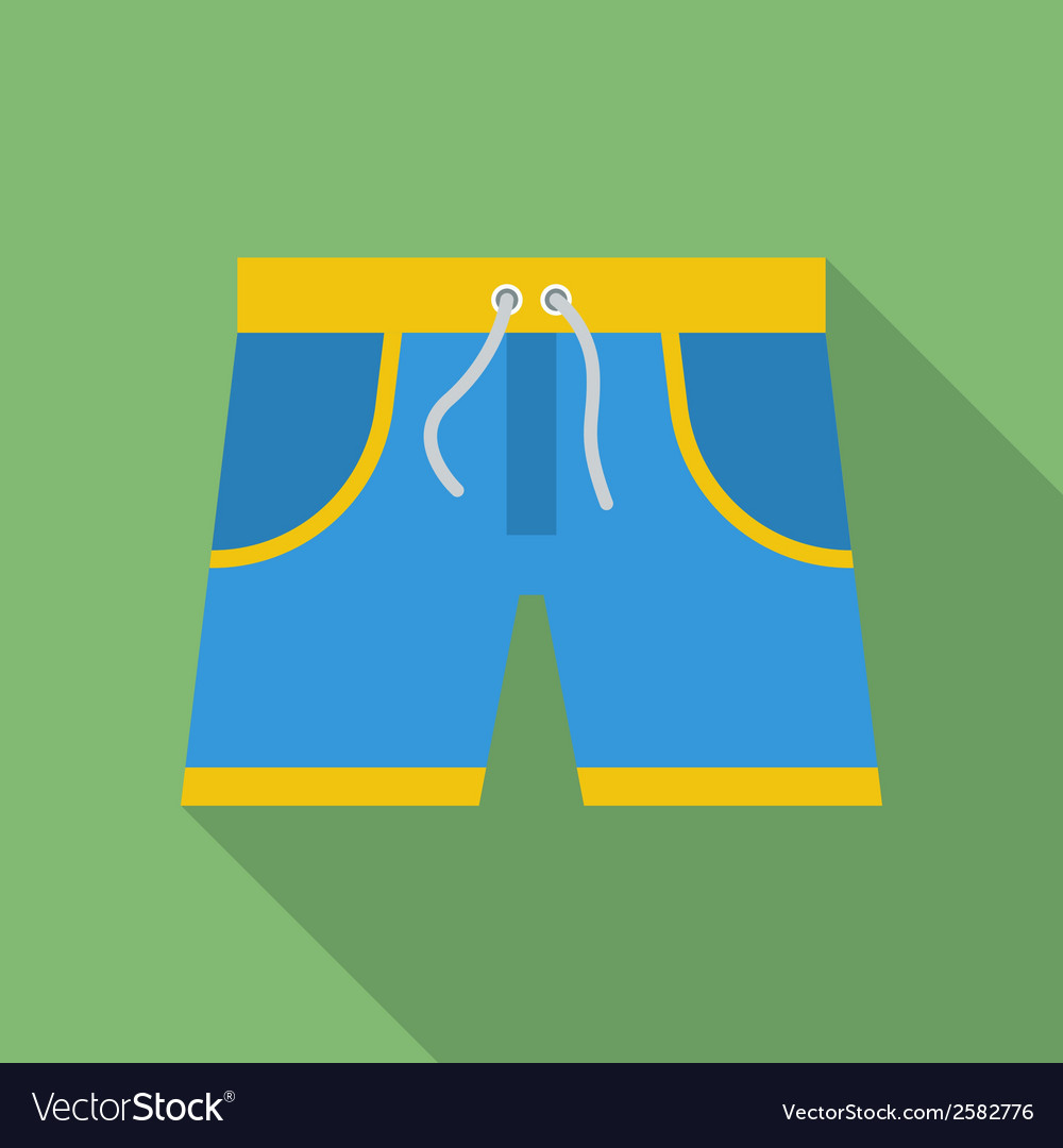 Shorts icon modern flat style with a long shadow vector | Price: 1 Credit (USD $1)
