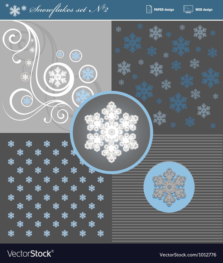 Snowflakes set 2 vector | Price: 1 Credit (USD $1)