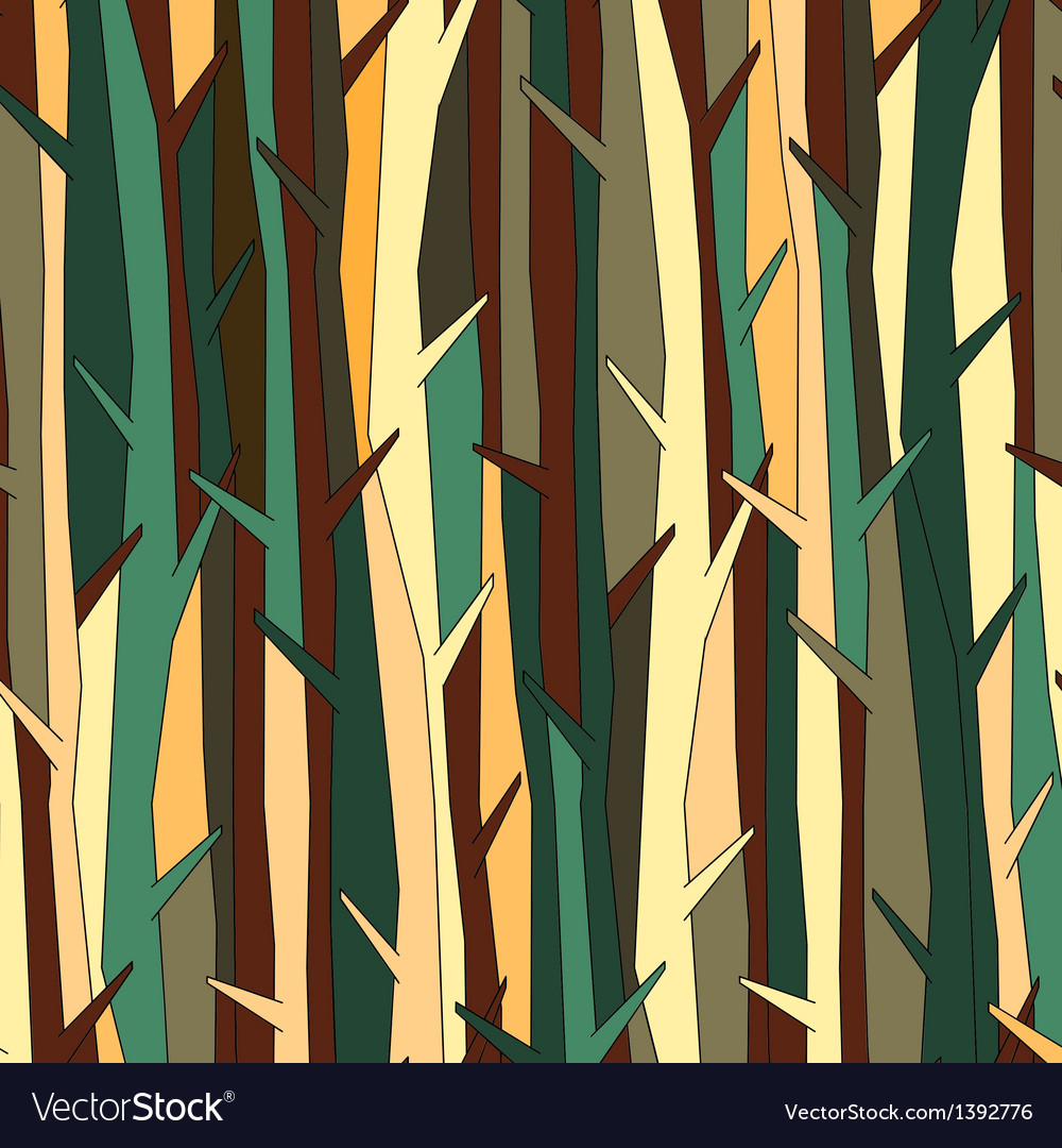 Trees pattern background color variation vector | Price: 1 Credit (USD $1)
