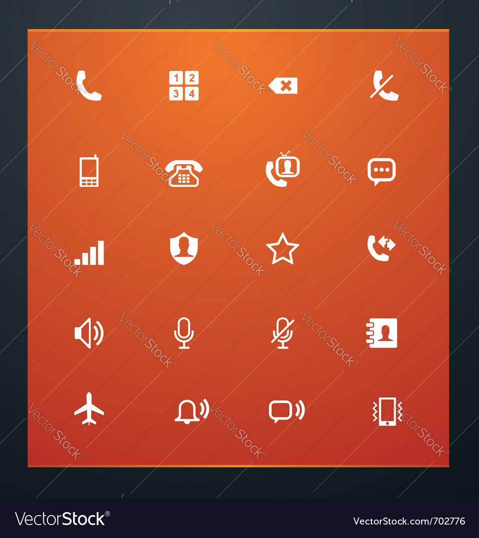 Universal glyphs 12 phone symbols 1 vector | Price: 1 Credit (USD $1)