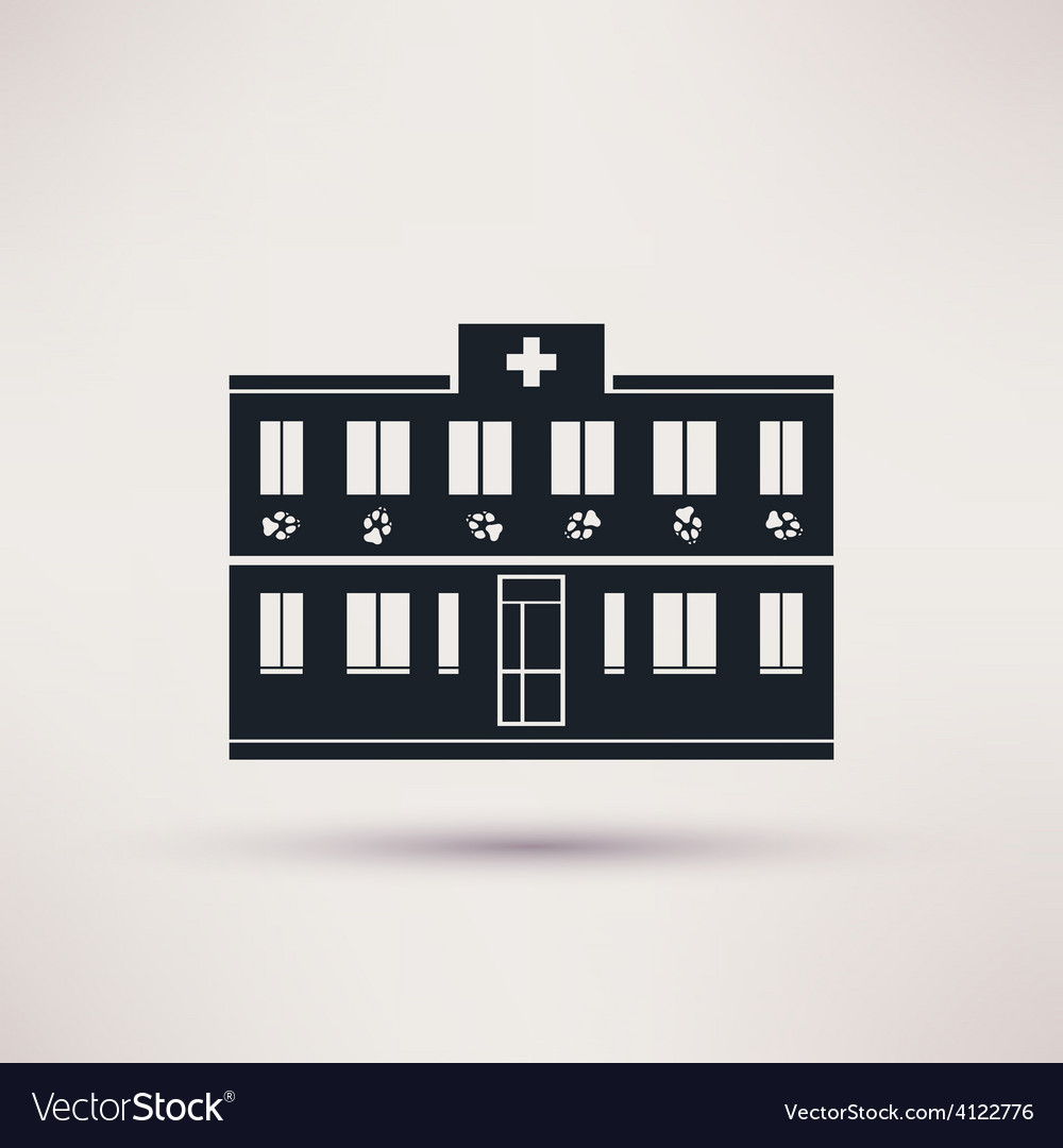 Veterinary pet health care building icons vector | Price: 1 Credit (USD $1)