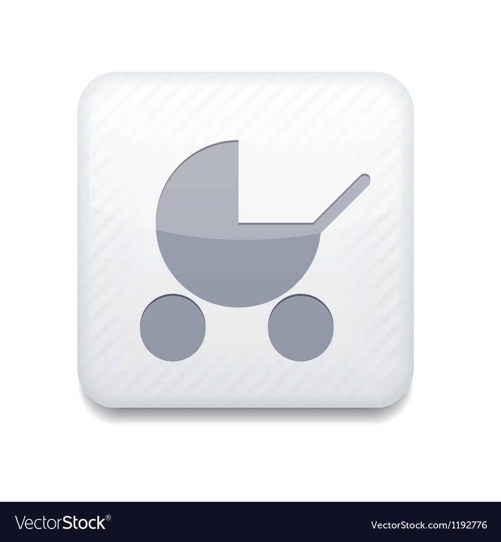 White pram icon eps10 easy to edit vector | Price: 1 Credit (USD $1)