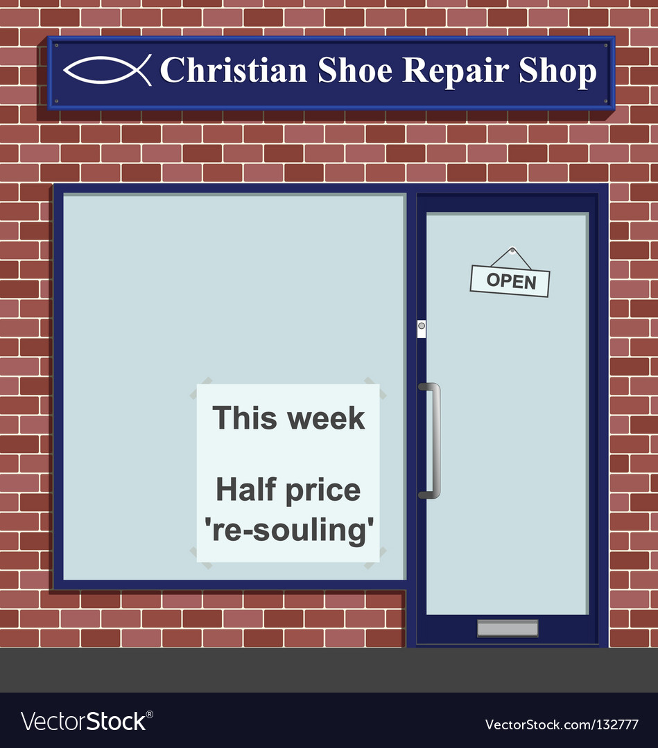 Christian shoe repairs vector | Price: 1 Credit (USD $1)