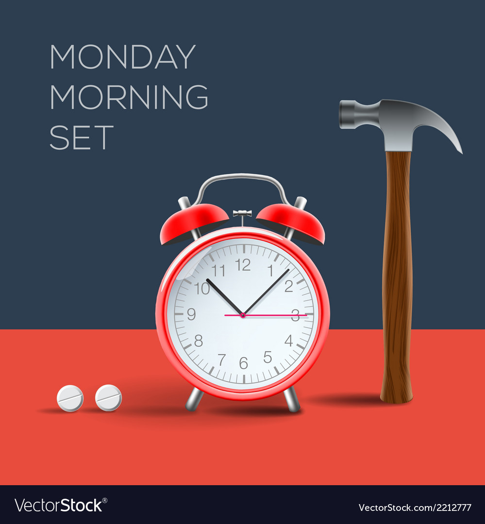 Concept - i hate monday morning vector | Price: 1 Credit (USD $1)