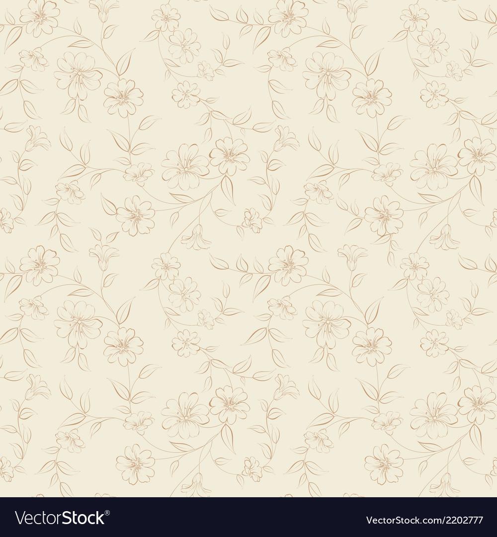 Elegant monochrome flowers fabric vector | Price: 1 Credit (USD $1)