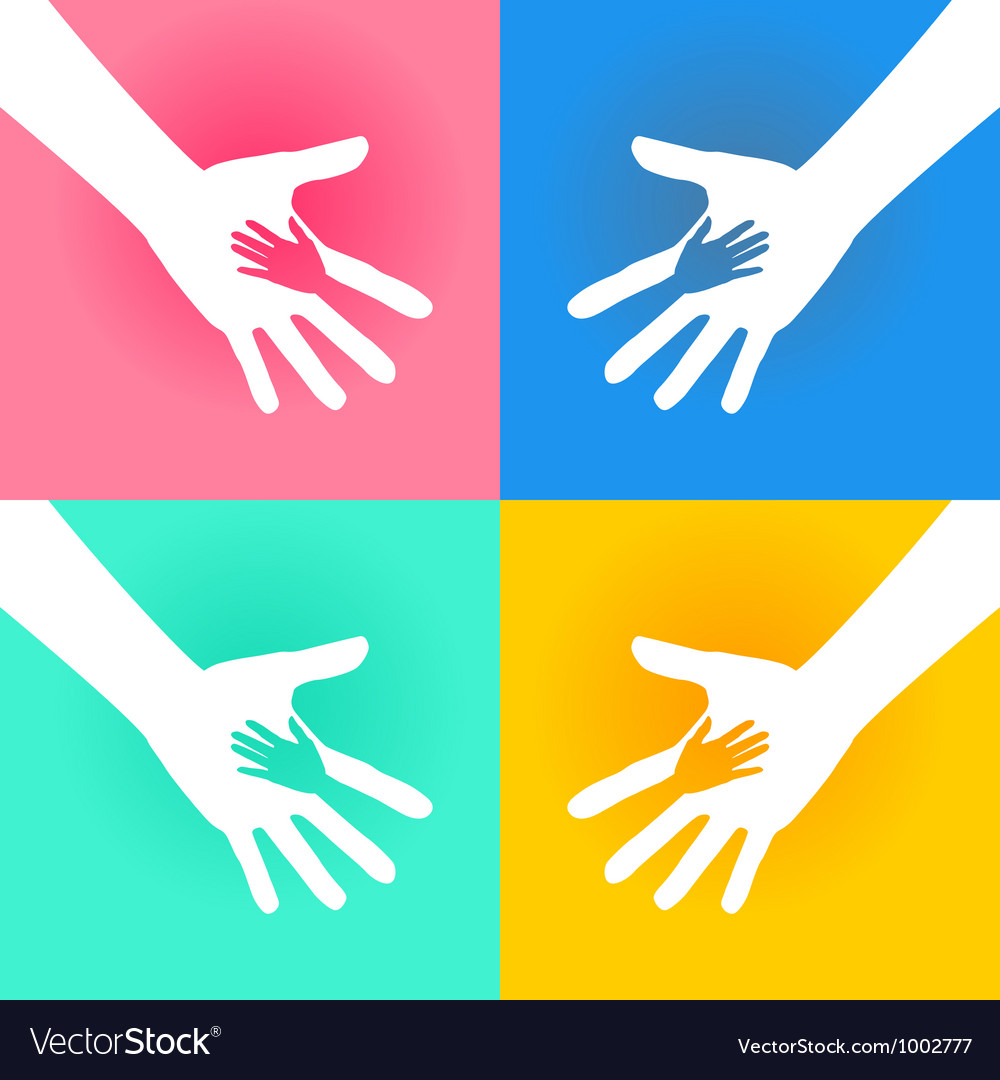 Helping hands charity vector | Price: 1 Credit (USD $1)