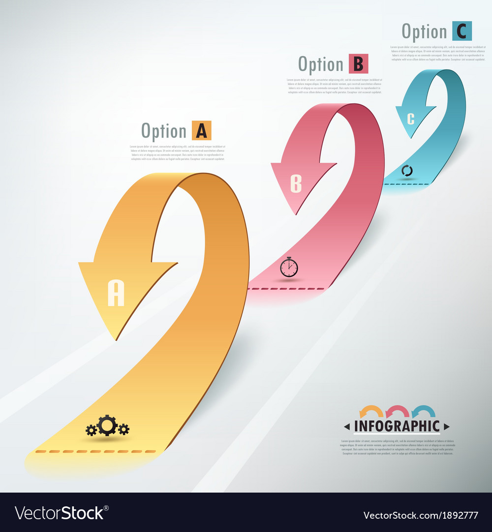 Modern infographic options banner vector | Price: 1 Credit (USD $1)