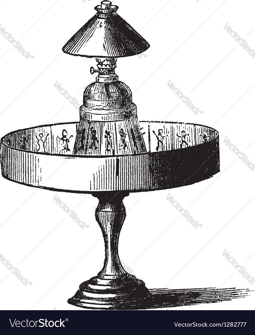 Praxinoscope vintage engraving vector   Price: 1 Credit (USD $1)