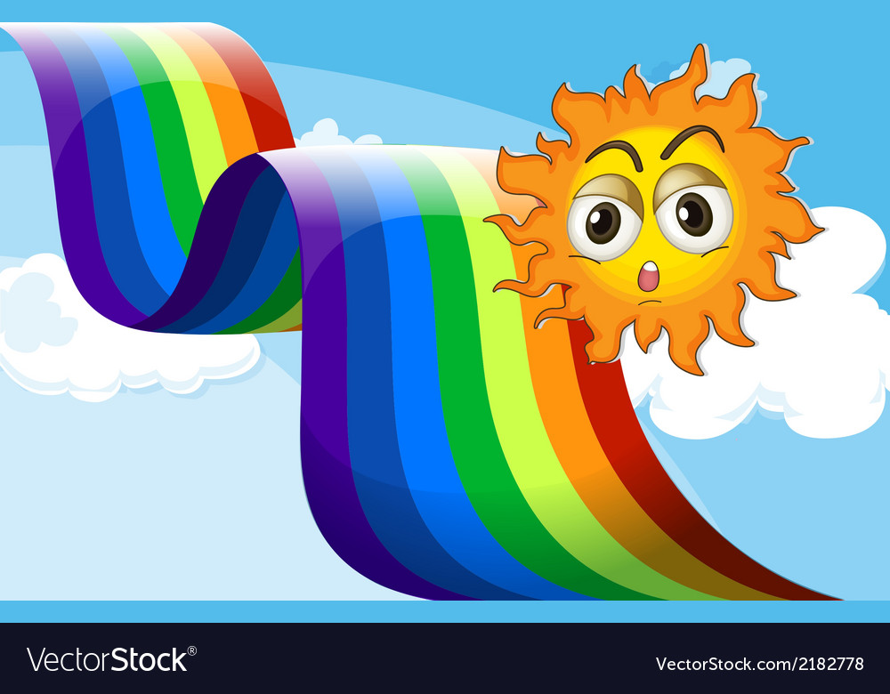 A rainbow beside the sun vector | Price: 1 Credit (USD $1)